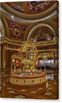 Armillary Sphere Of The Venetian Canvas Print by Susan Candelario