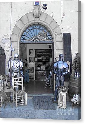 Armored Guards Canvas Print by Linda Ryan