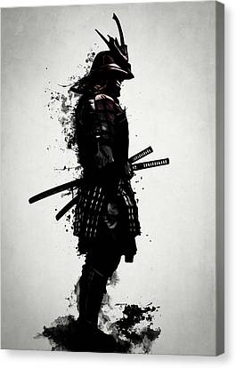 Canvas Print featuring the mixed media Armored Samurai by Nicklas Gustafsson