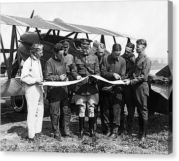 Army Air Service Pilots Canvas Print by Underwood Archives