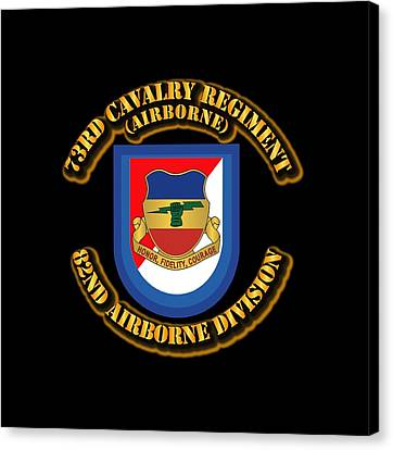 Abn Canvas Print - Army - Flash - 73rd Cavalry Regiment - Airborne by Tom Adkins