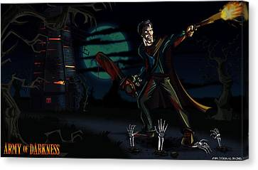 Army Of Darkness Canvas Print by Jason Diesbourg