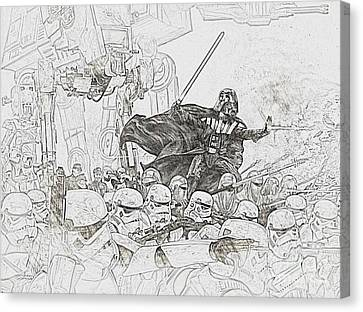 Army Of Stormtroopers Canvas Print by Hywel Morgan