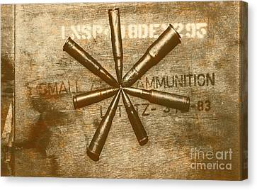 Army Star Bullets Canvas Print