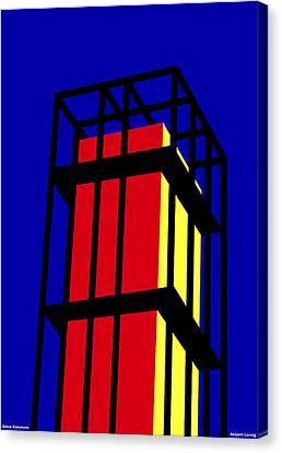 Arne Jacobseb Tower Canvas Print by Asbjorn Lonvig