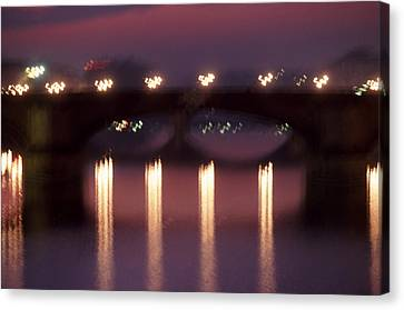 Arno River Reflections Canvas Print by Brad Rickerby