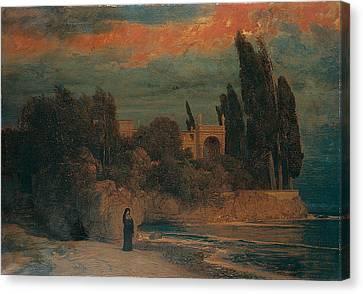 Arnold Bocklin , Villa By The Sea Canvas Print