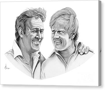 Arnold Palmer-jack Nicklaus Canvas Print by Murphy Elliott
