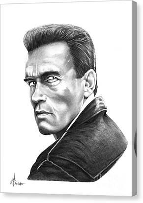 Schwarzenegger Canvas Print - Arnold Schwarzenegger by Murphy Elliott