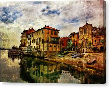 Arona Italy 2 Canvas Print by T J Hankins