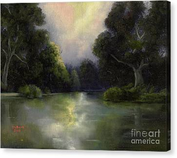 Canvas Print featuring the painting Around The Bend by Marlene Book