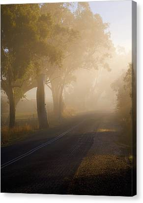 Around The Bend Canvas Print by Mike  Dawson