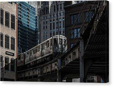 Around The Corner, Chicago Canvas Print by Reinier Snijders