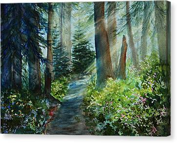 Around The Path Canvas Print by Kerri Ligatich