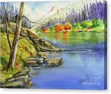 Around The Rocky Outcrop Canvas Print
