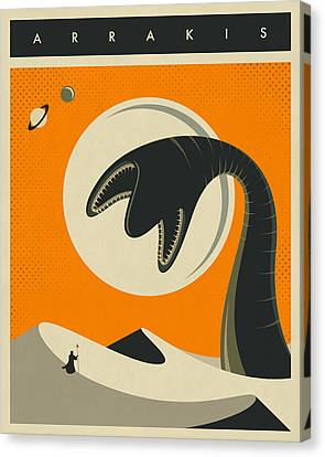 Science Fiction Canvas Print - Arrakis Travel Poster by Jazzberry Blue