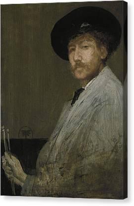 Arrangement In Gray Portrait Of The Painter Canvas Print