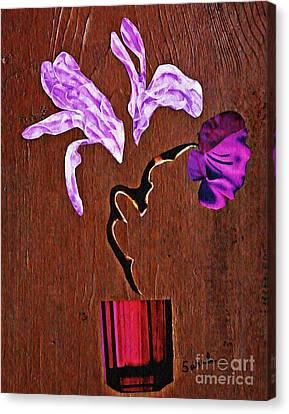 Arrangement In Purple Canvas Print