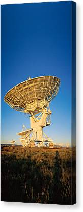 Arraysatellite Dish Aimed Towards Sky Canvas Print