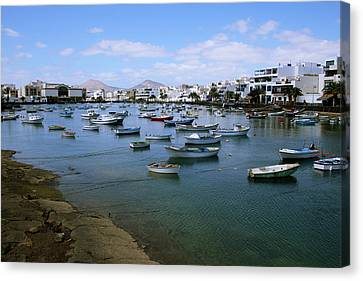 Canary Canvas Print - Arrecife - Lanzarote by Cambion Art