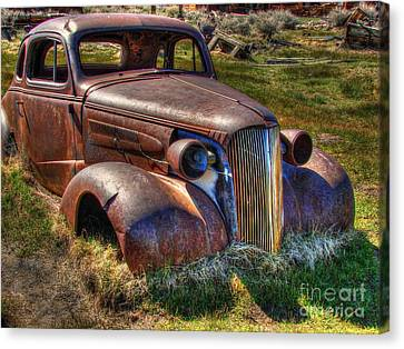 Rusted Cars Canvas Print - Arrested Decay by Scott McGuire
