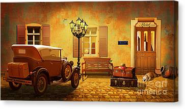 Arrival In The Past Canvas Print by Monika Juengling