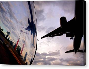 Arrival...  Canvas Print by Russell Styles