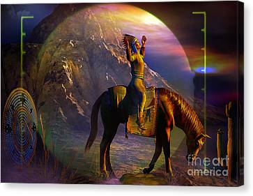 Arrival Canvas Print by Shadowlea Is