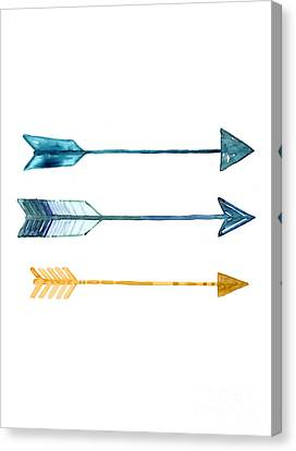 Arrow Watercolor Art Print Painting Canvas Print
