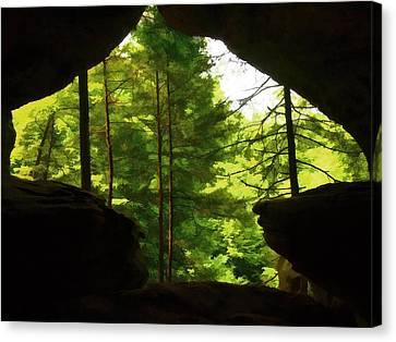 Arrowhead Cavern Canvas Print by Dan Sproul