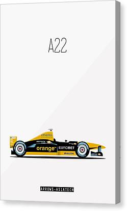 Arrows Asiatech A22 F1 Poster Canvas Print