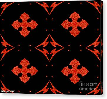 Arrows In Reddish Orange Abstract Canvas Print by Debra Lynch