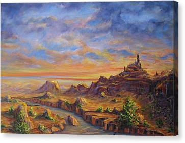Arroyo Sunset Canvas Print by Thomas Restifo