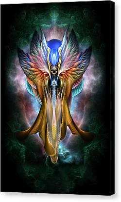 Arsencia Ethereal Glory Fractal Portrait Canvas Print