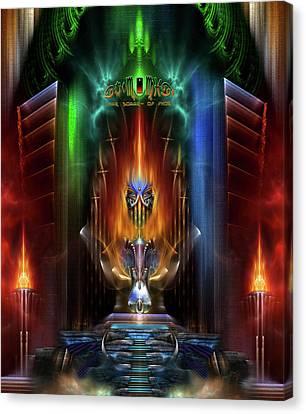 Arsencia Goddess Of Fire Fractal Composition Canvas Print