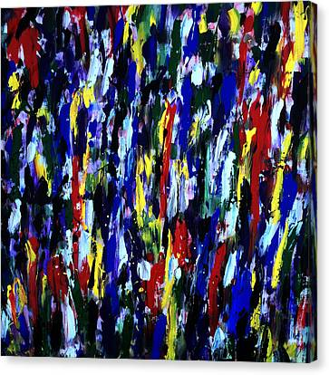 Art Abstract Painting Modern Color Canvas Print by Robert R Splashy Art Abstract Paintings