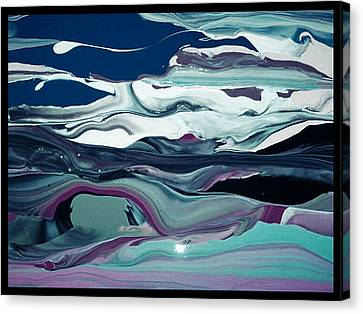 Canvas Print featuring the painting Art Abstract by Sheila Mcdonald