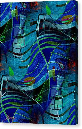 Canvas Print featuring the digital art Art Abstract With Culture by Sheila Mcdonald