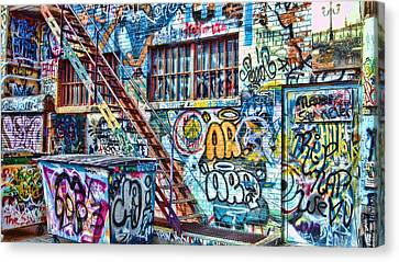 Art Alley 2 Canvas Print