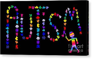 Canvas Print - Art And Autism by Nick Gustafson