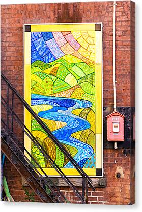 Art And The Fire Escape Canvas Print by Tom Singleton