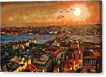 Art Beautiful Views Exist Fragmented Canvas Print by Catherine Lott