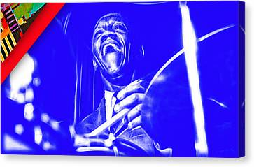 Drummer Canvas Print - Art Blakey Collection by Marvin Blaine