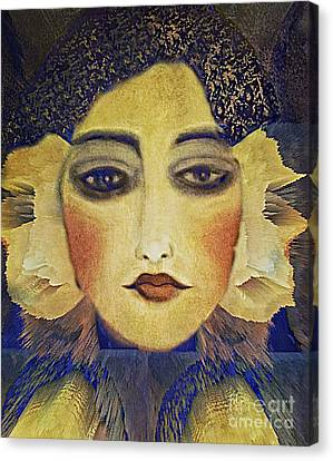 Canvas Print featuring the digital art Art Deco  Beauty by Alexis Rotella