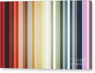 Art Deco Color Palette Of 1940 Canvas Print