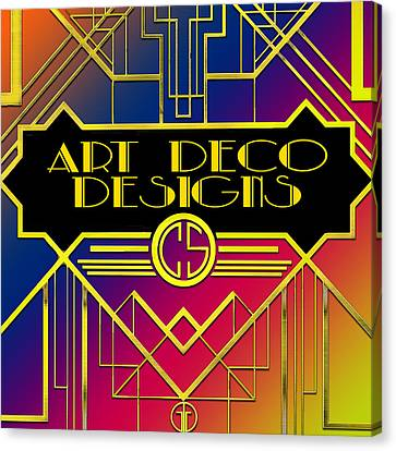 Canvas Print featuring the digital art Art Deco Designs by Chuck Staley