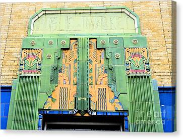 Art Deco Facade At Old Public Market Canvas Print by Janette Boyd
