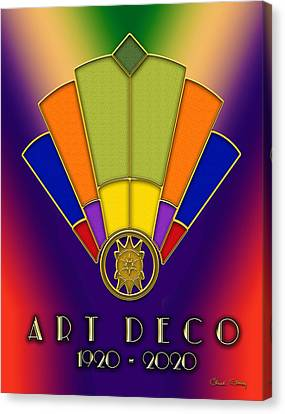 Canvas Print featuring the digital art Art Deco Fan 6 Titled by Chuck Staley