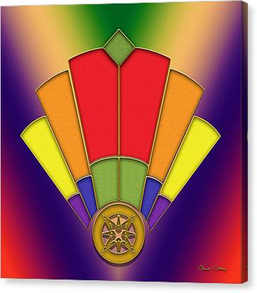 Art Deco Fan 7 - Chuck Staley Canvas Print by Chuck Staley