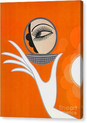 Art Deco Fashion Illustration Canvas Print by Tina Lavoie